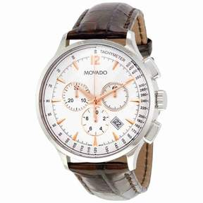Movado Men's 606576 Circa Leather Watch, 42mm