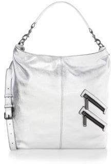 Rebecca Minkoff Jamie Covertible Metallic Leather Hobo - SILVER - STYLE