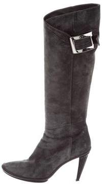 Roger Vivier Suede Knee-High Boots