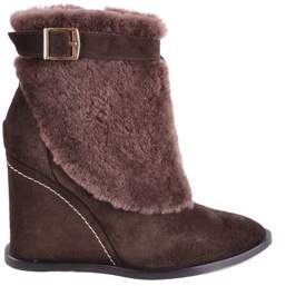 Paloma Barceló Women's Brown Suede Ankle Boots.