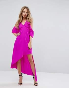Adelyn Rae Oliana Asymmetric Cold Shoulder Dress