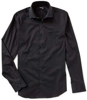 Murano Slim Solid Contrast Piping Shirt