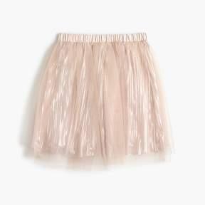 J.Crew Girls' shimmer tulle skirt