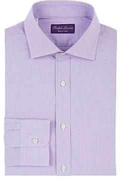 Ralph Lauren Purple Label Men's Micro-Check Cotton Poplin Dress Shirt
