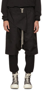 Rick Owens Black Cotton Memphis Pods Shorts