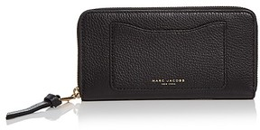 Marc Jacobs Recruit Vertical Zippy Leather Wallet - BLACK/GOLD - STYLE