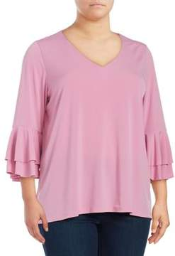 Context Plus Double Bell Sleeve Top