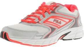 Fila Women's Xtent 4 White / Diva Pink Metallic Silver Ankle-High Running Shoe - 8.5M