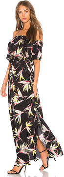 1 STATE Off Shoulder Maxi Dress With Drawstring Waist