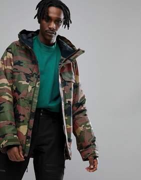 Oakley Snow Lookout Gore BZI Ski Jacket 2L Regular Fit in Warning Camo