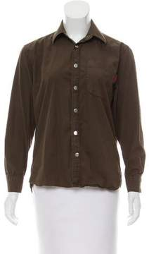 Gianfranco Ferre Long Sleeve Button-Up Top