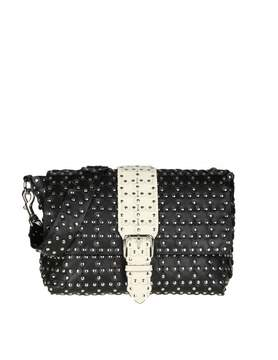 RED Valentino Shoulder Bag Flower Puzzle In Black Leather