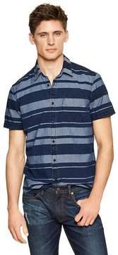 Gap Striped chambray worker shirt
