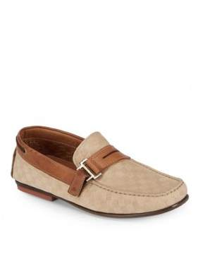 Bacco Bucci Altieri Checked Leather Penny Loafers
