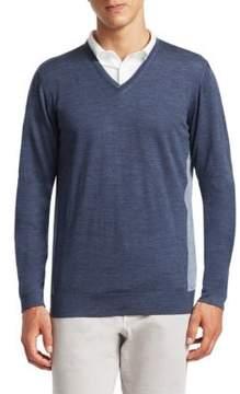 Loro Piana Matchplay V-Neck Wool Sweater