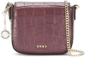 DKNY Croc embossed shoulder bag
