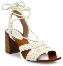 Michael Kors Lawson Leather Lace-Up Sandals