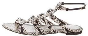 Jason Wu Snakeskin Casge Sandals