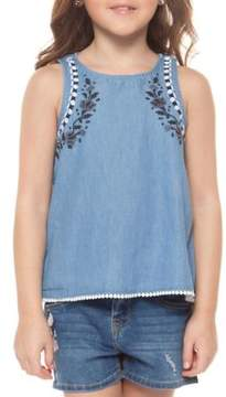 Dex Little Girl's Embroidered Cotton Tank