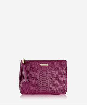 GiGi New York | All In One Bag In Mulberry Embossed Python | Mulberry embossed python