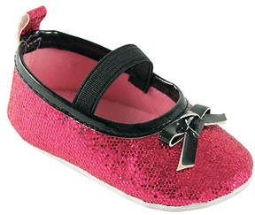 Luvable Friends Pink Sparkly Badge Sole Mary Jane Booties - Girls