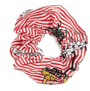 Forever 21 Floral Striped Scrunchie