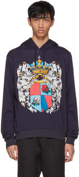 Dolce & Gabbana Navy Coat of Arms Hoodie