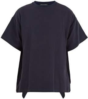Longjourney Oversized cotton-piqué T-shirt