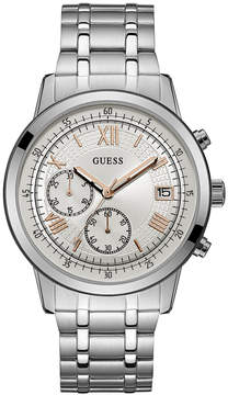 GUESS Men's Chronograph Stainless Steel Bracelet Watch 44mm