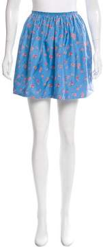 Band Of Outsiders Floral Printed Silk Mini Skirt w/ Tags