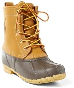 Ralph Lauren Ewan Leather Lace-Up Boot Tan 4