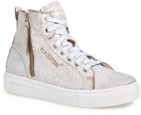 Blackstone Women's 'Ll78' Crackled High Top Platform Sneaker
