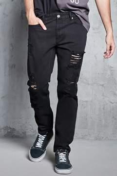 21men 21 MEN Distressed Slim-Fit Jeans