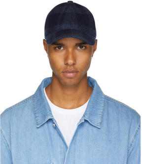 A.P.C. Navy Check Louis Cap