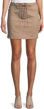 Dex Lace-Up Front Pencil Skirt