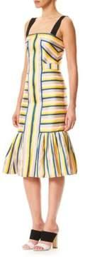 Carolina Herrera Striped Tulip Tank Dress