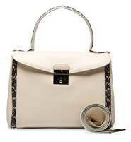 Marc Jacobs Women's Leather Python Skin Blend ¿metropolitan¿ Shoulder Handbag White. - WHITE - STYLE