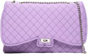 Butterfly Quilted Neoprene Shoulder Bag