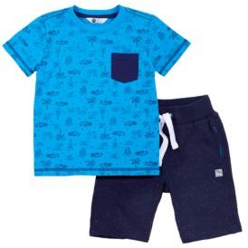 Petit Lem Tropicool Two-Piece Tee and Shorts Set