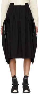 Comme des Garcons Black Wool Skirt