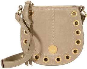 See by Chloe Gold Grommet Beige Crossbody Bag