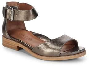 Gentle Souls Women's Gracey Metallic Ankle-Strap Sandals