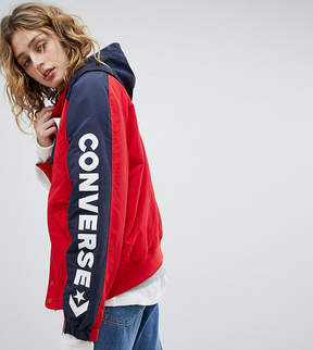 Converse Boat Jacket In Red With Arm Logo