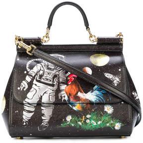 Dolce & Gabbana Sicily astronaut printed tote bag
