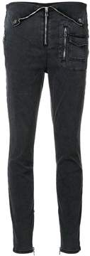 RtA zip detail skinny jeans