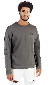True Religion MENS 3D EMBOSSED LOGO FLEECE SWEATER