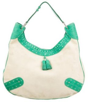Burberry Bicolor Scalloped Bag - GREEN - STYLE