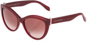 Alexander McQueen Cat-Eye Plastic Sunglasses, Burgundy