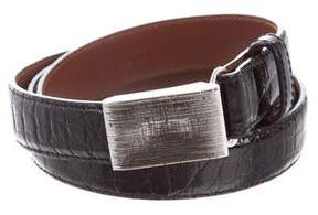Ralph Lauren Brass Buckle Alligator Belt