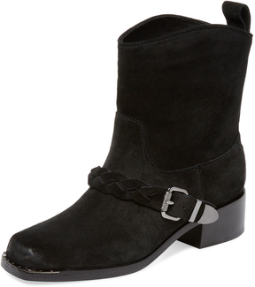 Belle by Sigerson Morrison Women's Montes Braided Buckle Bootie